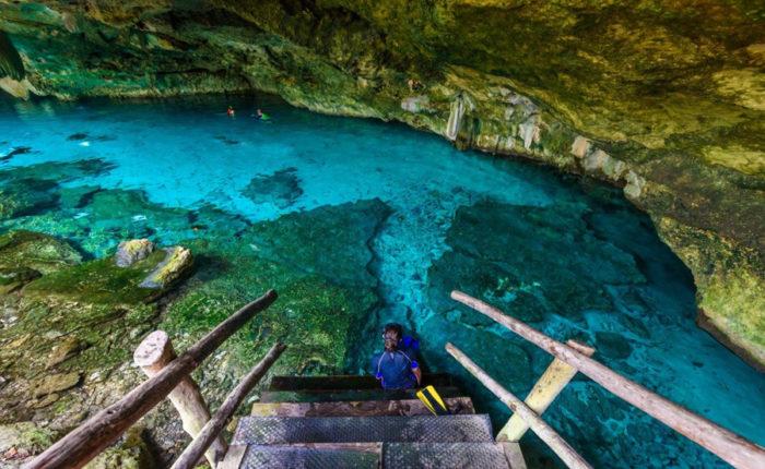 Snorkel in the Dos Ojos cenotes
